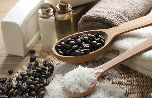 кофейный скраб с морской солью
