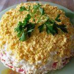 Салат нежность, вкусно и красиво